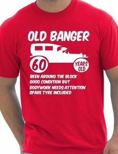 60th Birthday Mens T shirt Gift Present Funny Novelty Gift Sizes Small - xxl Comfortable t shirt,Casual Short Sleeve TEE(China)