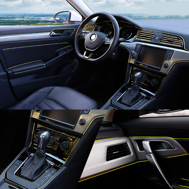Car Styling 5M/pcs Universal DIY Flexible Interior Decoration Moulding Trim Strips Car Central Control and Door Decoration Strip
