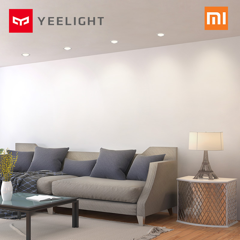 Image 3 - Original xiaomi mijia yeelight led downlight Warm Yellow Cold white Round LED Ceiling Recessed Light Not xiaomi smart home light-in Smart Remote Control from Consumer Electronics