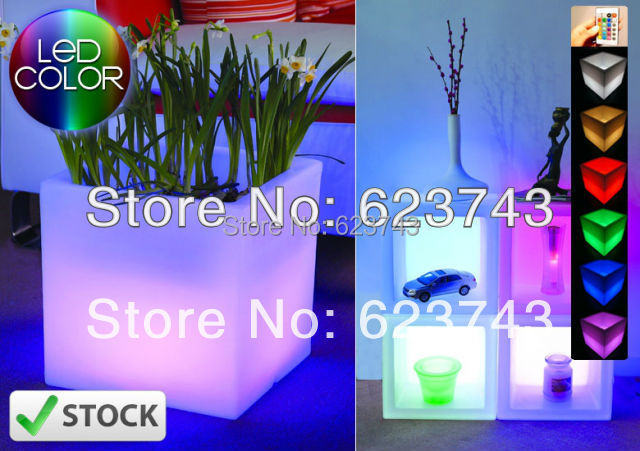 где купить Glowing Magic cube flower pot ! Remote control color changing RGB led flower pot,LED Ice bucket,LED beer barrel,LED Cube дешево