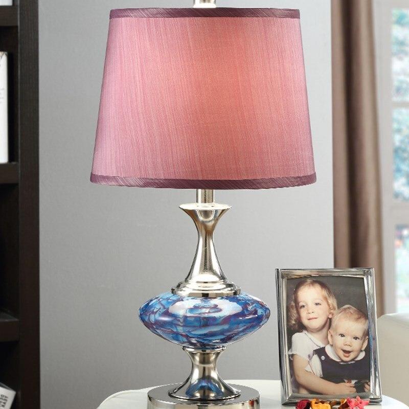 glass bedroom table lamp red wedding gifts fashion creative living room decorative lamp desk. Black Bedroom Furniture Sets. Home Design Ideas