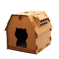 Pet Cat Scratching Board Funny Kitten Cat House Playing Sleep House