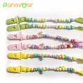 Baby Pacifier Clip Nipple Chain Colourful Beads Dummy Clip Baby Soother Holder High Quality BPA Free Kiss Word