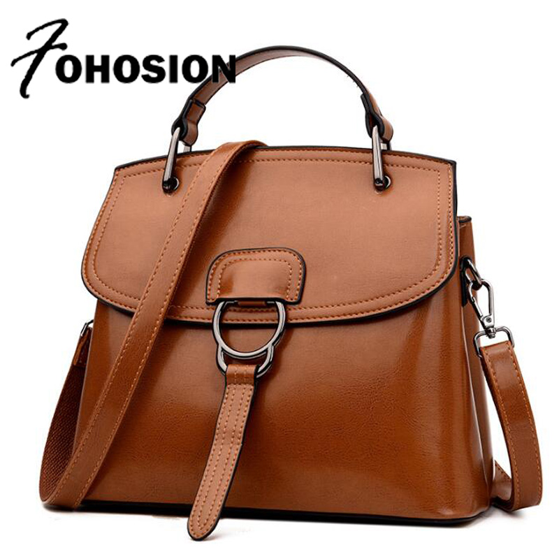 vintage Women leather handbags Casual Tote Ladies Shoulder Bag luxury handbags women bags designer brown Hand Bag bolsa feminina brand designer large capacity ladies brown black beige casual tote shoulder bag handbags for women lady female bolsa feminina page 4