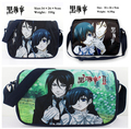 "Kuroshitsuji Black Butler Sebastian Michaelis & Ciel Messenger Bag 14"" Textbook Hnadbag"