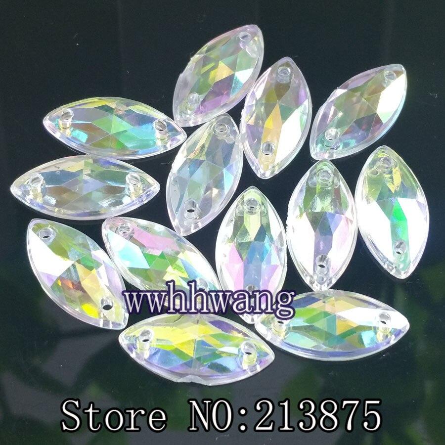 120 claro como el cristal 15 mm Ronda Diamante de Imitación Acrílico Joya Flatback Sewon facetado del grano
