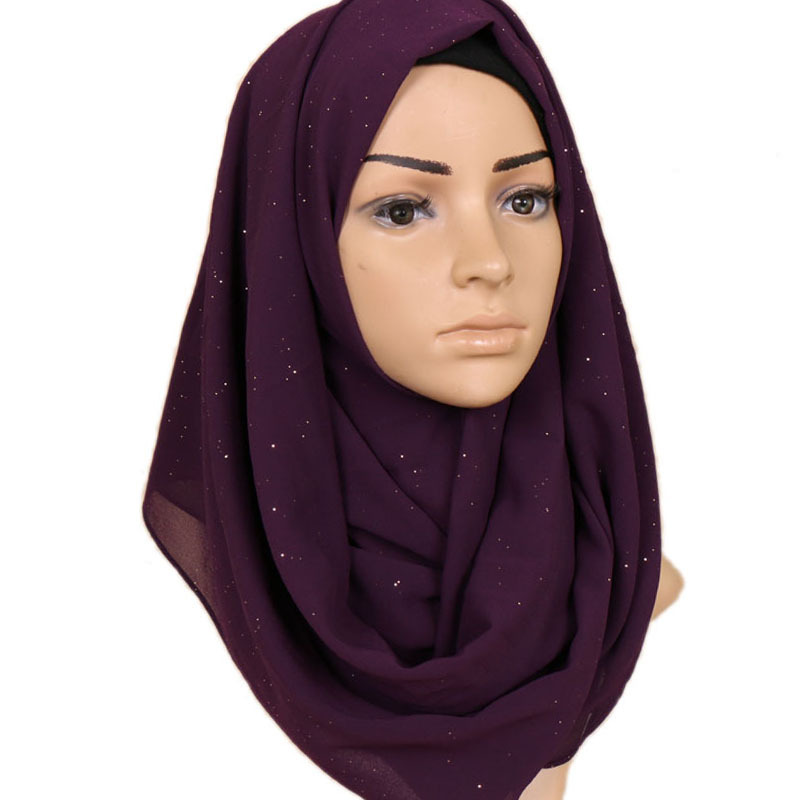 2019 NEW Women Gold Chiffon Solid Color Muslim Head Scarf Shawls And Wraps Pashmina Bandana Female Foulard Ladies Hijab Stores