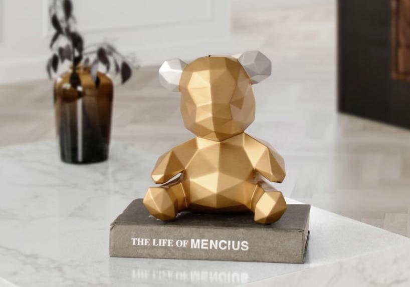 Style nordique résine artisanat maison ornements dessin animé ours tirelire Figurines Miniature ours tirelire étude décoration GiftsLFB657