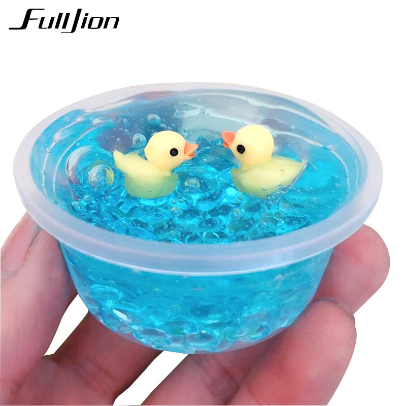 Fulljion Slime Toys Modeling Clay Fluffy Slime Box Lizun Clear Fimo Plasticine Duck Toys Antistress Soft Putty Crystal DIY Gifts transparent foam clear fluffy slime diy crystal lizun dough anti stress toy rice slime mud plasticine modeling clay for kids toy