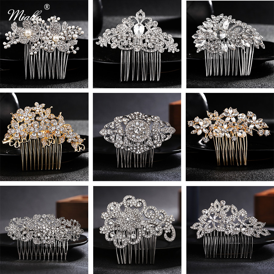 Miallo Various Styles Bridal Hair Combs Wedding Hair Accessories Austrian Crystal Head Jewelry Women Hairpieces Hair Clips