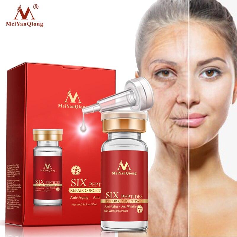 Argireline sex peptider reparation koncentrat föryngring emulsion anti-rynk serum ansikts hudvård anti-aging produkter ...