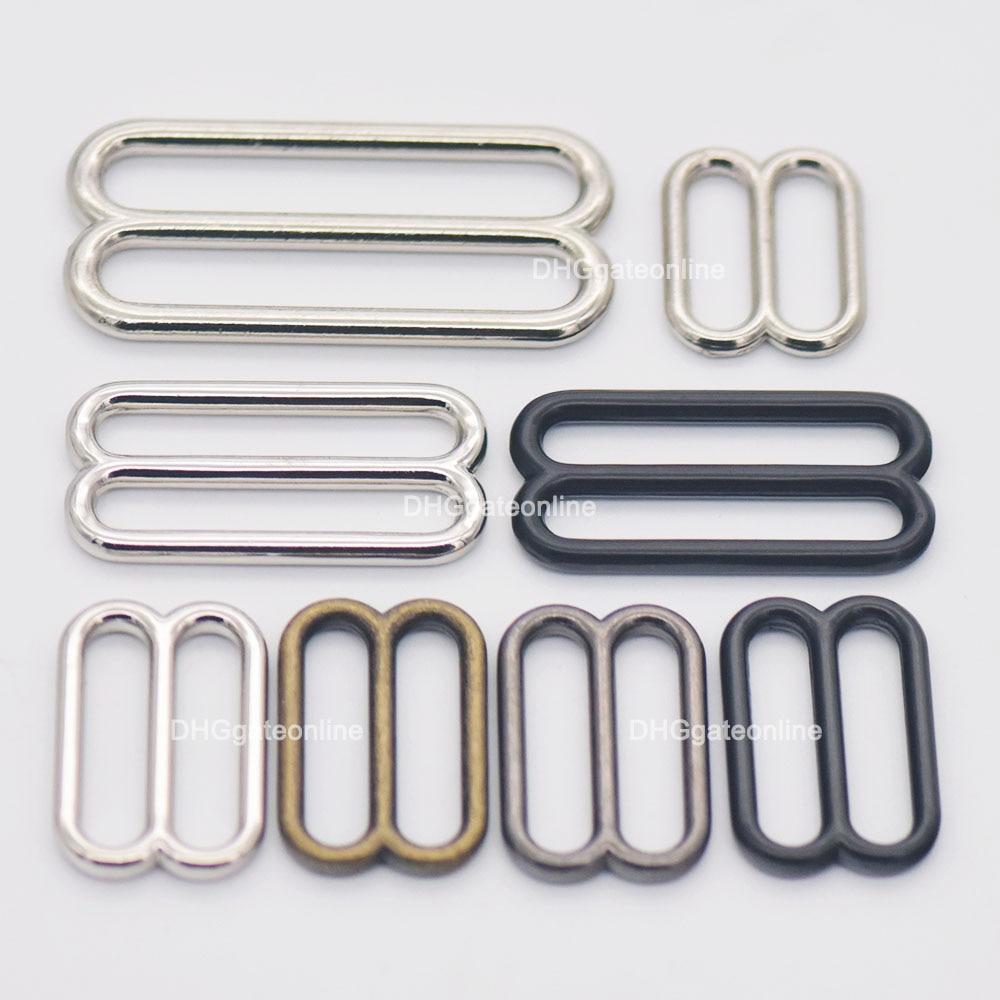 5 15 25 PCS Metal Widemouth Triglides Slides Buckle 20 25 38 50MM For Belt Bag Strap Webbing Leather Craft 4 Colors