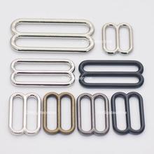 5, 15, 25 шт., металлические направляющие с пряжкой 20, 25, 38, 50 мм для ремней, сумок, ремней, кожаных ремней, 4 цвета