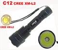 L2 СВЕТОДИОДНЫЙ Фонарик Новый высокое качество C12 Cree 2500LM 5-режиме XM-L L2 XML2 Фонарик Факел (можно использовать 1x18650 батареи)