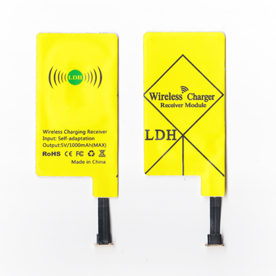 LDH New High-end universal qi wireless charger receiver For All Android phone micro usb charging Adapter