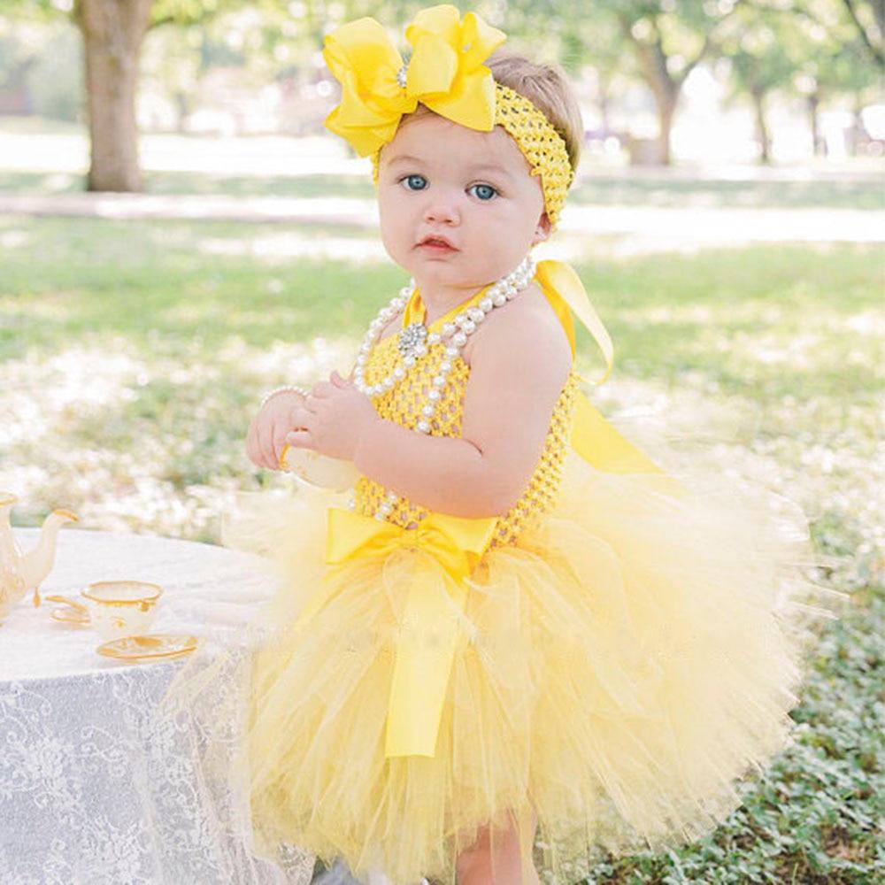 cute princess belle baby tutu dress princess girl yellow