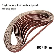 10pcs Grinding and Polishing Replacement Angle Sanding Belt Grit Paper Sander Belts for Grinder Machine New