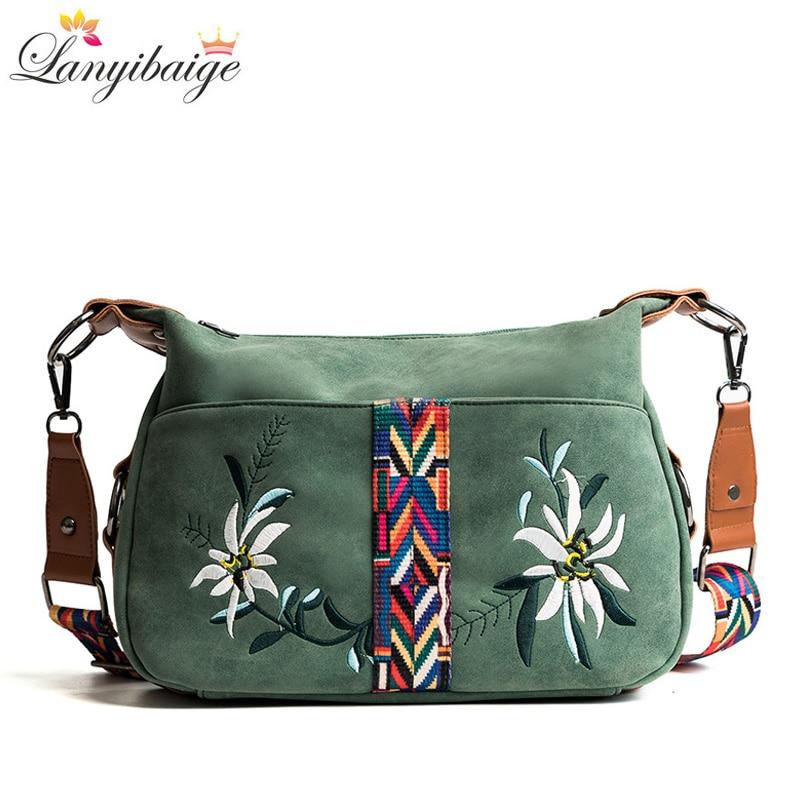 LANYIBAIGE High Quality Abrasive Fabric Women Bag Fashion Female Messenger Bag Designer Female Multi