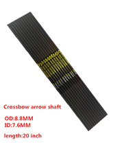 Free Shipping 12Pcs 20″ Carbon arrow shaft ID7.6mm OD8.8mm for crossbow hunting and archery