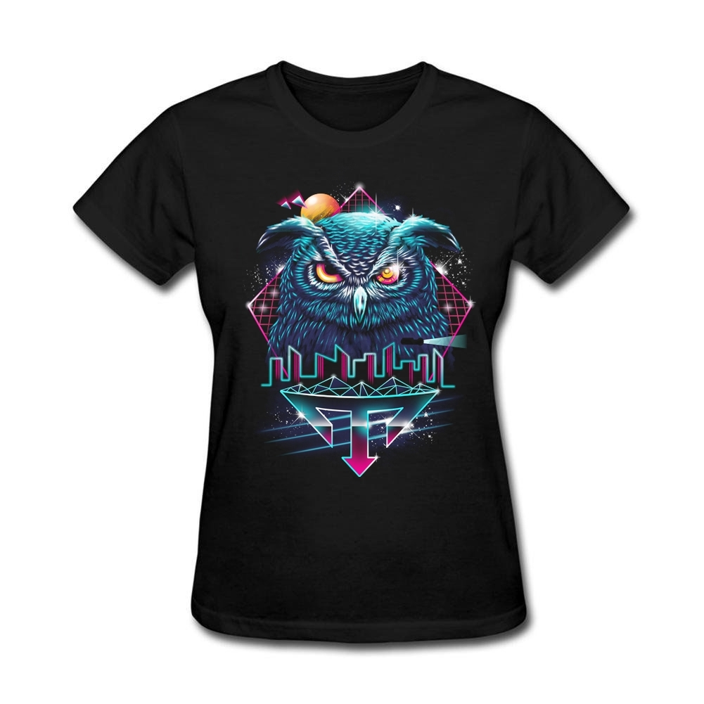 Design t shirt and sell online - Ladies Vintage Election Day T Shirt Oversize Nocturnal Animod Owl T Shirts Women Round Neck Basic Tee Online Shop Best Selling