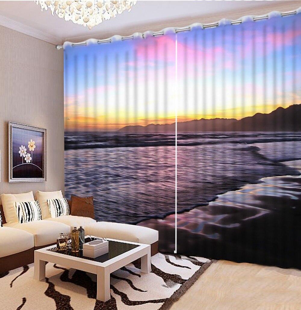 3D печать фотографий плотные Шторы для гостиной Постельные принадлежности номер в отеле шторы Cortinas морской пейзаж