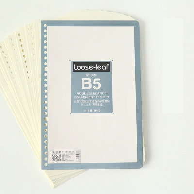 B5 Spiral Notebook Paper 26 Ring Binder Notebook Refill Loose-leaf White Blank Notebook Sheet 100 Sheets notebook season b5 18k26