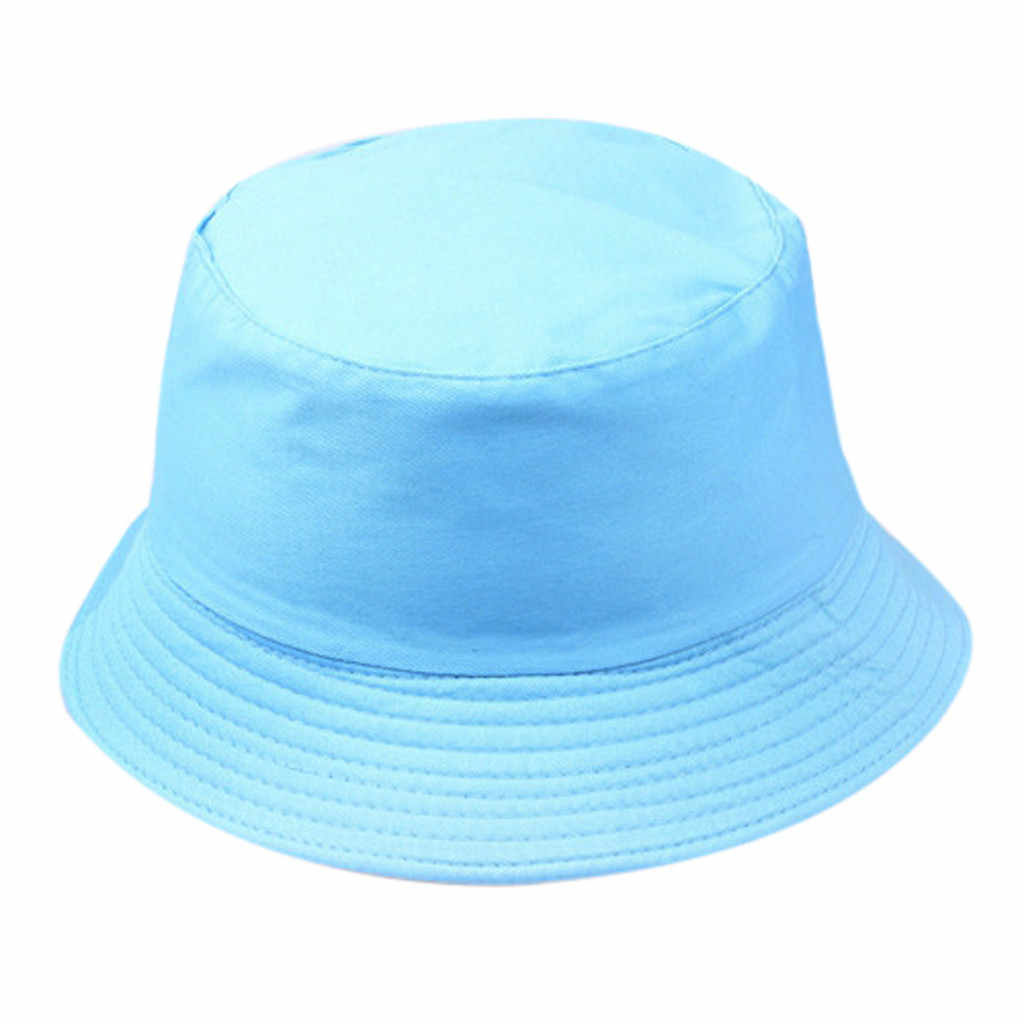 Women Men Fisherman Hat Fashion Wild Sun Protection Solid Cap Outdoor Casual Pot Bucket Harajuku Bucket K Pop Bob Hat #BL5