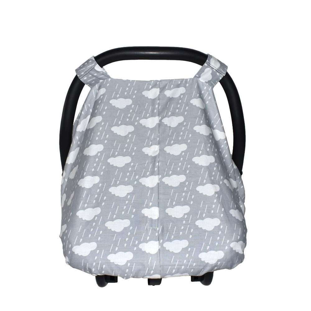 Infant Carrier Safety Basket Sunshade Covers Muslin Cotton Baby Carseat Canopy Breathable Stroller Covers Multifunction Red Floral