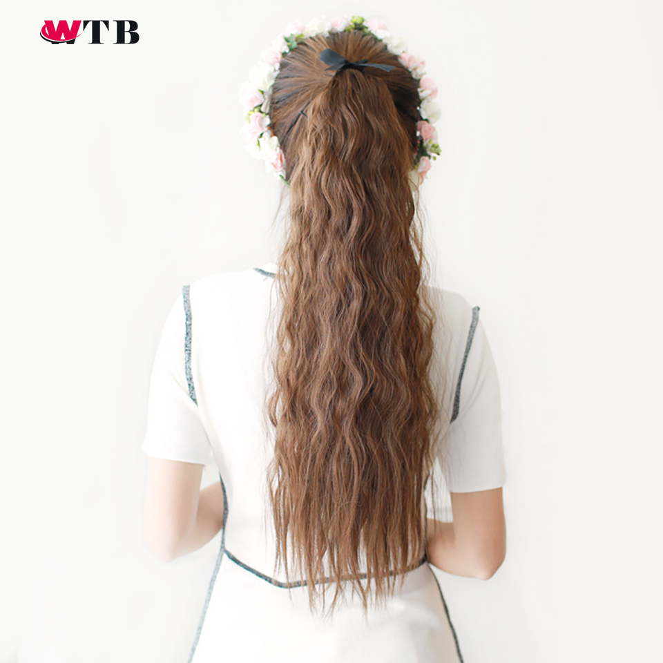 Wtb Hair 22 Long Kinky Curly Ponytail For Black Women -2927