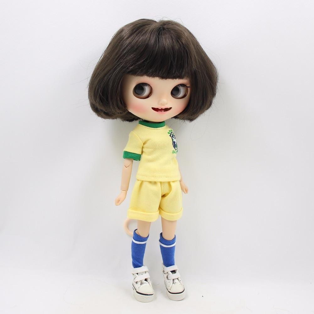 Neo Blythe Doll Brasil Football Team Uniform 4