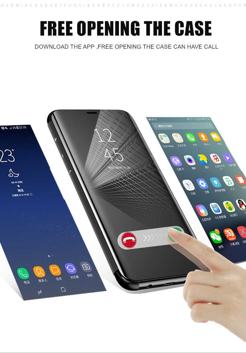 sale retailer a436f cd0aa MaxGear Smart Mirror View Case For Samsung Galaxy J3 J4 J6 J7 J8 2018 Flip  Cover For Samsung J3 J5 J7 Pro Stand Leather Capa
