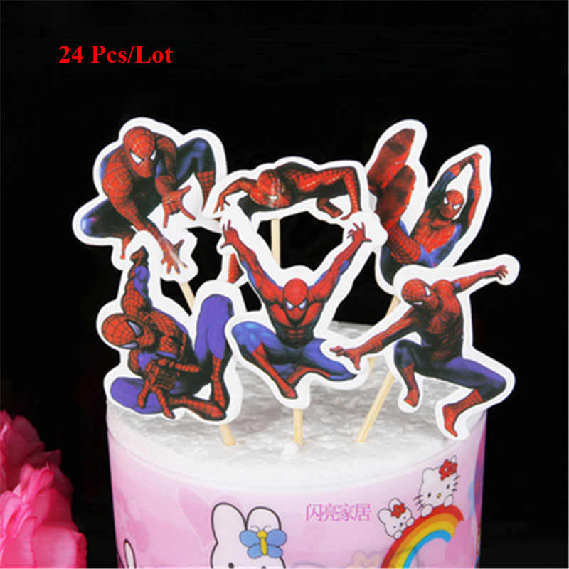Stupendous Spiderman Toys Cake Topper Birthday Cake Decoration Toys For Baby Personalised Birthday Cards Sponlily Jamesorg