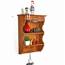1PC Zakka vintage old grocery storage shelves wooden wall partition wood storage rack 38×27.3x9cm JL 0943