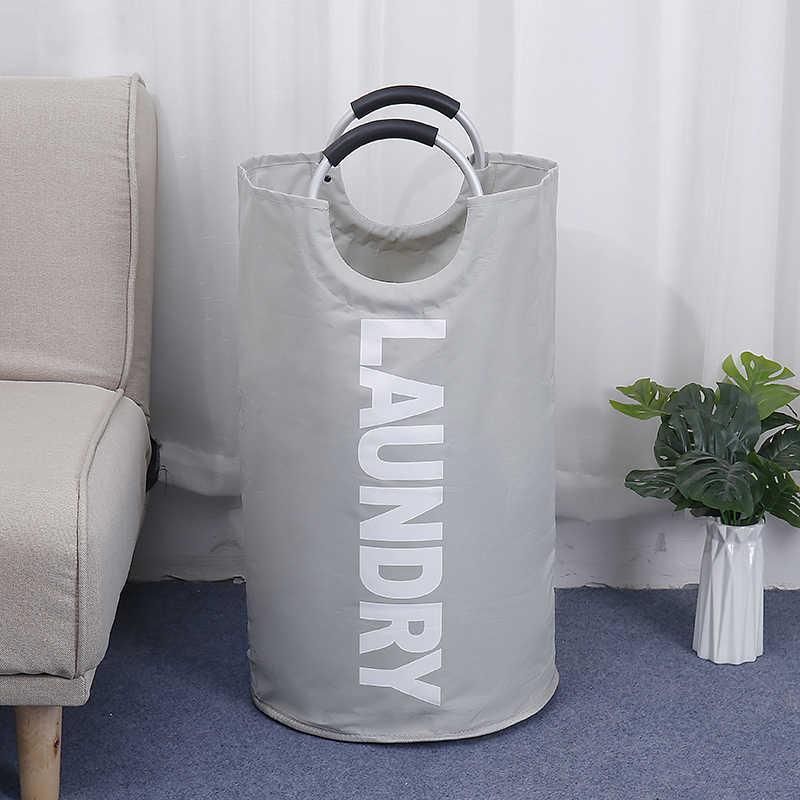 שושי נייד עמיד למים סל כביסה שכבה כפולה כבד בגדים מלוכלכים גדול Storag בית מכבסה