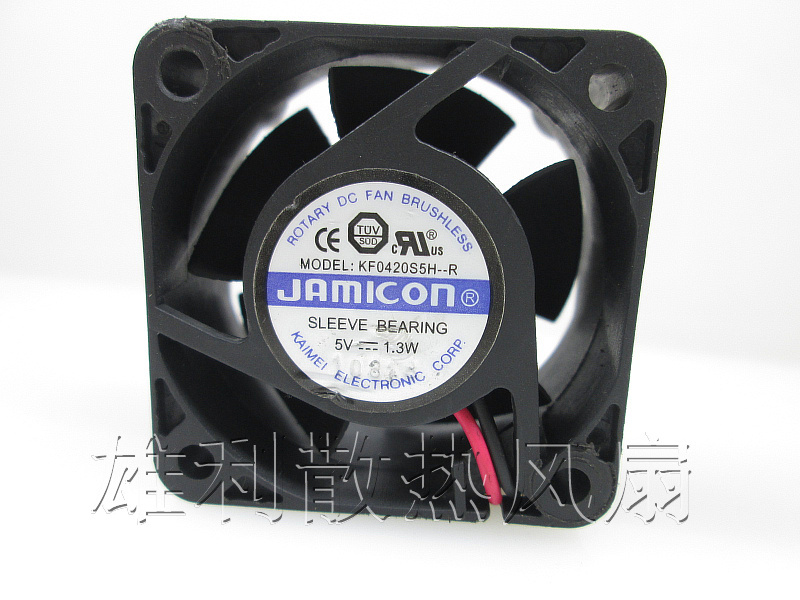 Original JAMICON KF0420S5H-R <font><b>5V</b></font> 1.3W 4CM 4020 40 * 40 * <font><b>20MM</b></font> sleeve bearing Cooling <font><b>Fan</b></font> image