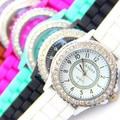 Caliente Del Silicón de GINEBRA Del Reloj Mujeres Rhinestone Relojes de Moda Reloj de Cuarzo Ocasional reloj Deportivo Relogio Feminino BWSB02