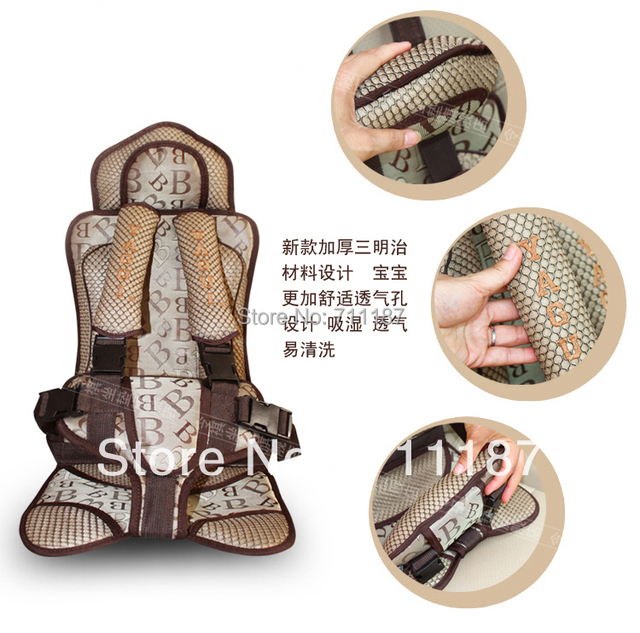 5 point safety harness kids car booster seatsportable car seatsbreathable sandwich fabric