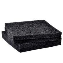 50cmx50cmx4cm  Aquarium Fish Tank Biochemical Filter Sponge Black Filtration Foam Pad Light weight And Softness Design