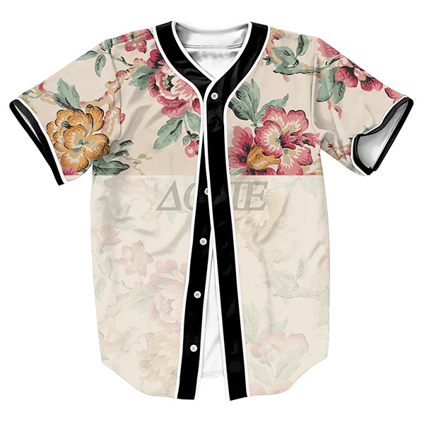 FLOWER Jersey OVERSHIRT BASEBALL SHIRTS TOPS SWEAT SHIRT MEN'S CLOTHING SUMMER STYLE 3D PRINT with Single Breasted