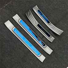 цена на 4pcs/set Stainless steel exterior door sill strip fit for Trumpchi GS7 Threshold trim welcome pedal Scuff plate guard cover