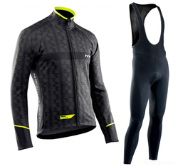 Northwave 2019 Long Sleeve Cycling Clothes Set NW Pro team Jersey men suit Breathable outdoor sportful bike MTB clothing paded