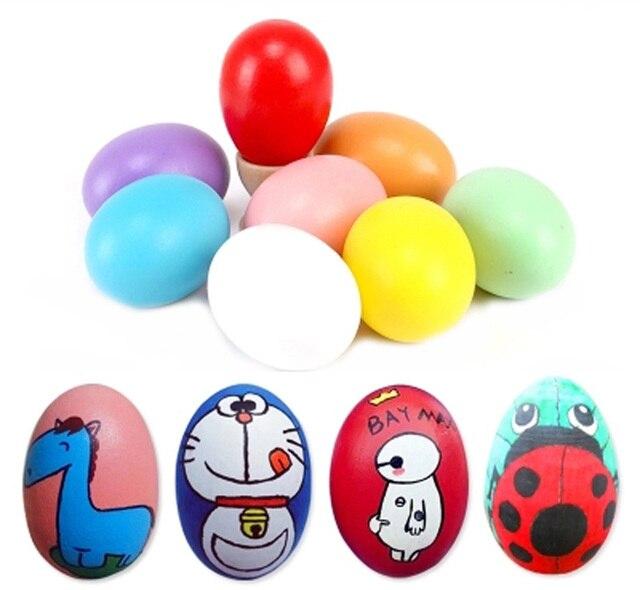 10pcs Easter Decoration Eggs Kids Children Diy Painting Egg Easter