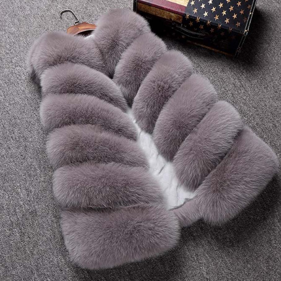 Grande taille 4XL hiver chaud gilet nouveauté mode femmes importation manteau fourrure gilet fausse fourrure manteau fourrure de renard Long gilet