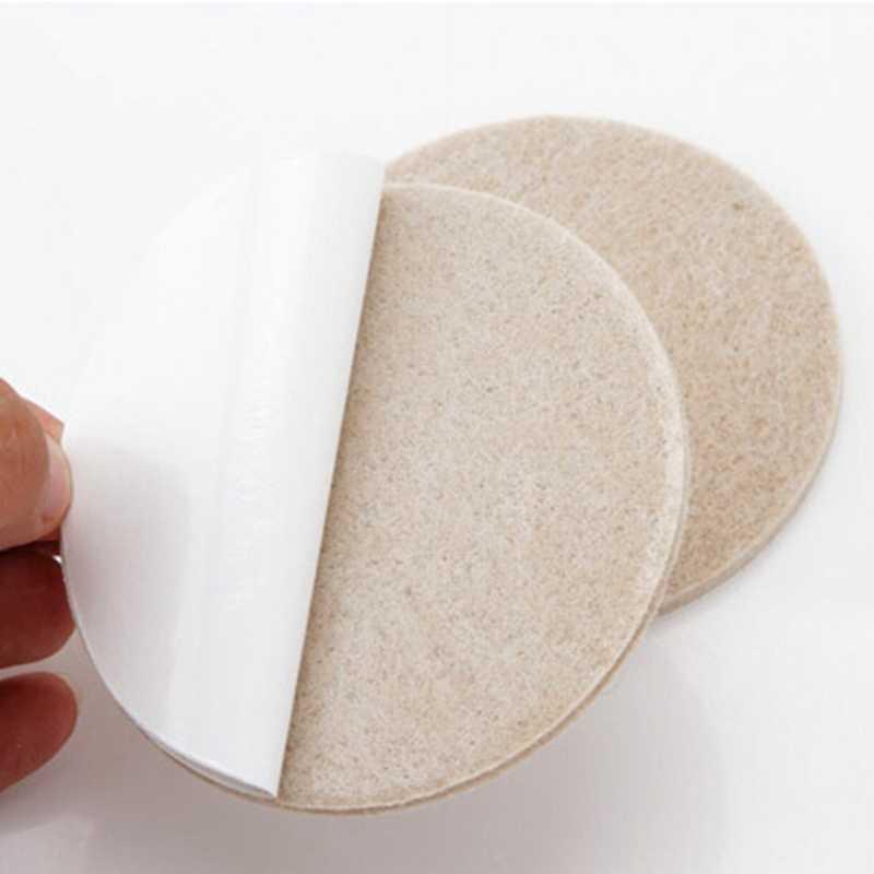 18 Pçs/set Fácil Estilo Móveis Cadeira Mesa Perna Protetores de Piso de Madeira Auto-adesivas Feltro Piso Proteger Pad Scratch 27*27mm