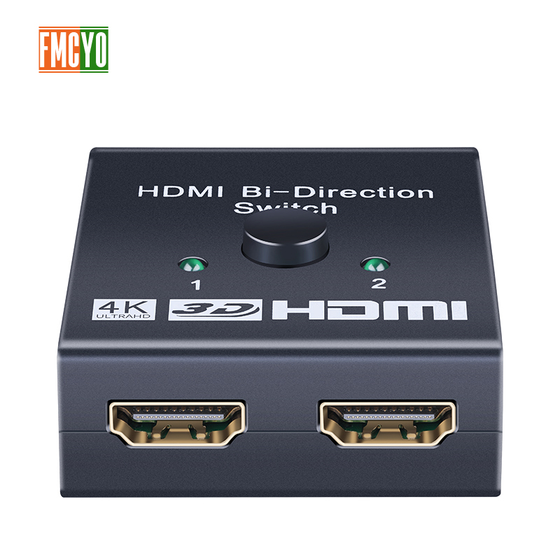 HDMI Splitter KVM Switcher 2x1 1x2 Mini HDMI Port 2 Input 1 Output 4K Resolution Bi Directional HDMI Switch Matrix