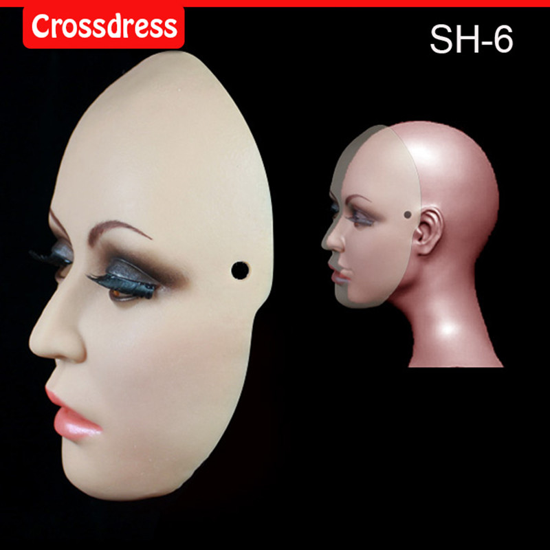 где купить SH-6 Beautiful female silicone mask Face mask Christmas special Halloween activities, the eye can see по лучшей цене