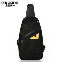 P KUONE Men Chest Bag Famous Brands Chest Pack Luxury Handbags Mal Messenger Bag For Teenagers