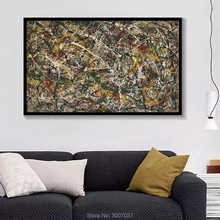 High Quality Jackson Pollock Abstract Handmade Oil Painting on Canvas Painting Colorful Modern Wall Pictures for Home Decor abstract colorful texture oil painting on canvas 100