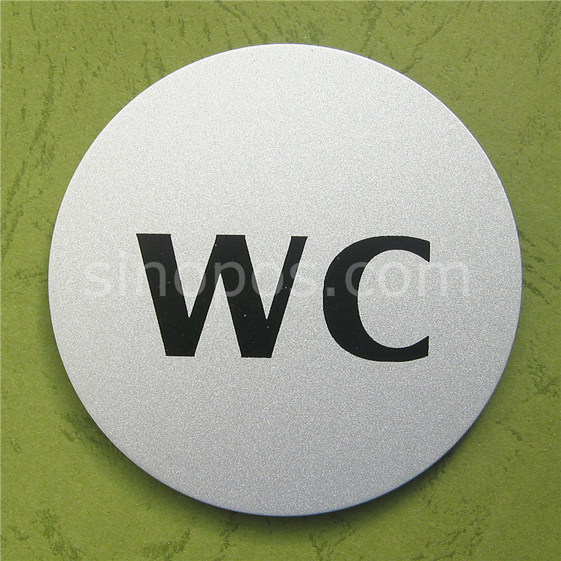 Compare prices on toilet sign board online shopping buy for Plaque de metal adhesive