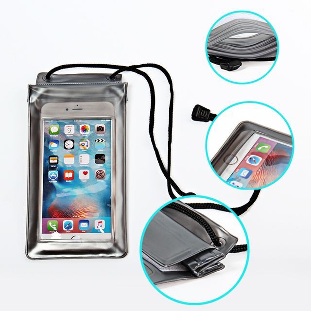 Watertight Full Cover Universal Waterproof Swim Phone Pouch Bag For Iphone X 8 6 6s 7 Plus Underwater Clear Belt Case For Xiaomi